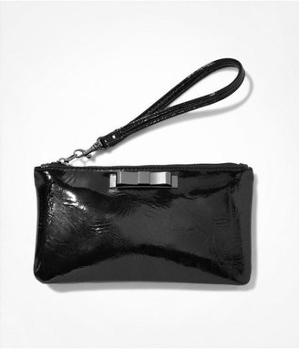 Express Bow Front Patent Wristlet