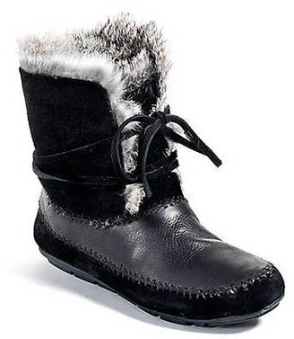 House Of Harlow Madoxx Leather Fur Trim Boots