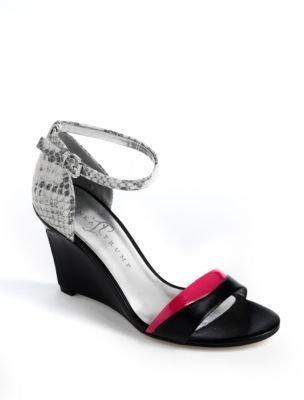 Ivanka Trump Brenna Leather Wedge Sandals