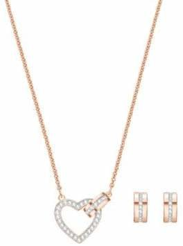 Swarovski Two-Piece Lovely Crystal Necklace and Hoop Earrings Set