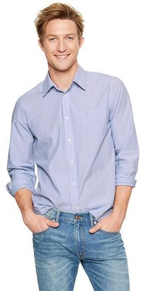Gap Lived-in wash thin-striped poplin shirt