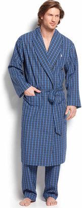 Polo Ralph Lauren Sleepwear, 100% Cotton Harwich Plaid Woven Robe $65 thestylecure.com