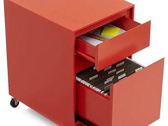 Pilsen Paprika Two Drawer File Cabinet