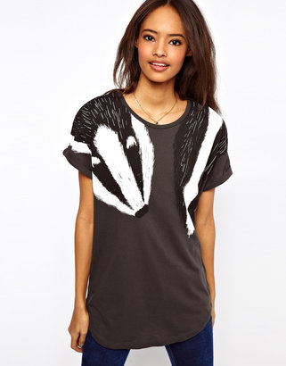 Asos T-Shirt with Badger Scarf Print