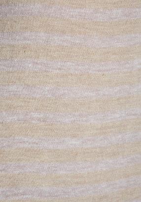 Velvet by Graham & Spencer Athena Oatmeal Stripe Henley Top