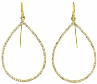 Irene Neuwirth gold pear shape earrings