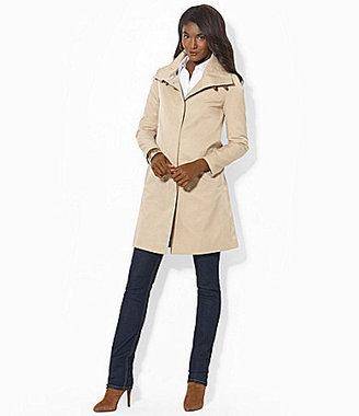 Lauren Ralph Lauren Balmacaan High-Collar Raincoat