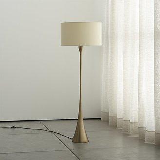 Crate & Barrel Melrose Brass Floor Lamp