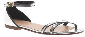 J.Crew Elsa piped metallic sandals