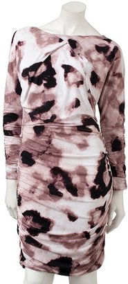 JLO by Jennifer Lopez leopard ruched dress
