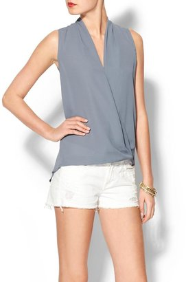 Collective Concepts Sleeveless Scarf Front Top
