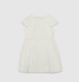 Gucci white GG jacquard satin dress