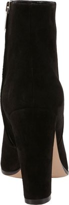 Gianvito Rossi Suede Side-Zip Ankle Boots-Black