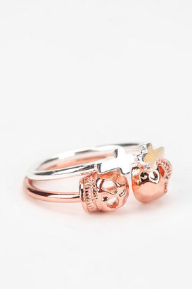 Urban Outfitters Kitsch Ring It On Ring - Set of 2
