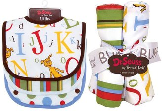 "Trend Lab Dr. Seuss ""ABC"" 7-pc. Bib & Burp Cloth Set by"