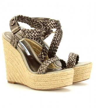 Brian Atwood BRAIDED ESPADRILLE WEDGES