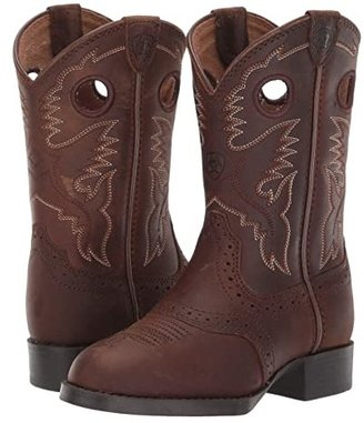 Ariat Heritage Stockman (Toddler/Little Kid/Big Kid) (Distressed Brown) Cowboy Boots