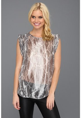 Kenneth Cole New York - Katie Snake-Print Top (Black Combo) - Apparel