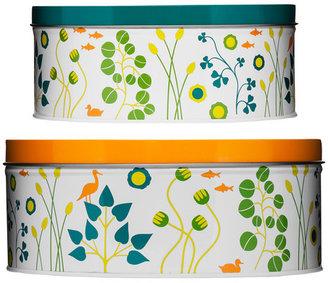 Sagaform Garden Storage Tin Round 2 Piece