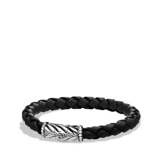 David Yurman Chevron Bracelet in Black with Diamonds