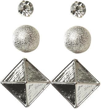 Arden B Pyramid Stud Earring Set
