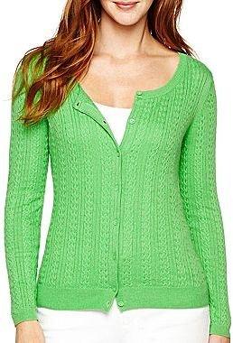 Liz Claiborne Cable-Knit Cardigan