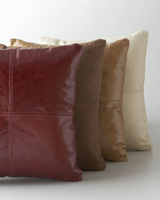 Massoud Tan Leather Pillow