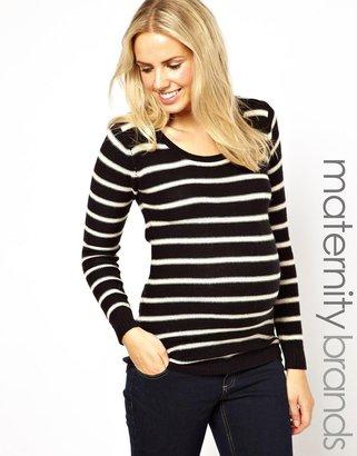 Mama Licious Mamalicious Stripe Knitted Top