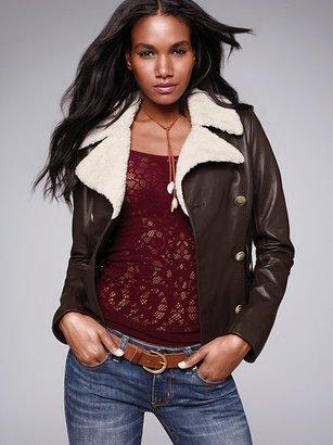 Victoria's Secret Leather Military Jacket