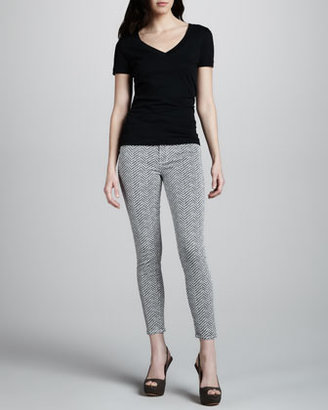 Paige Hoxton Ultra Skinny Herringbone Jeans, Koi