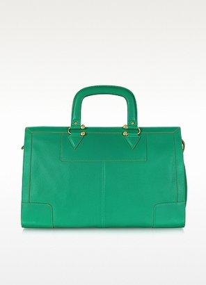 MySuelly Jacqueline Emerald Green Leather Satchel Bag