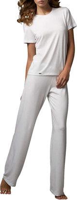 La Perla Tricot Relaxed Pants, White