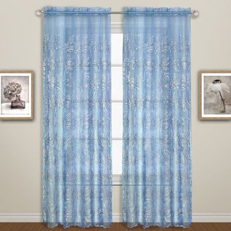 United Curtain Co. Bling Sheer Curtain - 55'' x 63''