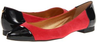 Kate Spade Eddie (Red Kid Suede/Black Patent) - Footwear