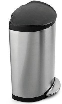 Simplehuman 40-Liter Semi-Round Plastic Lid Trash Can