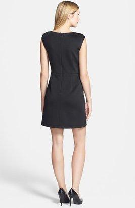 Betsey Johnson Cap Sleeve Laser Cut Scuba Dress