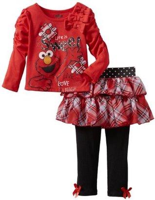 Sesame Street Girls 2-6X 2 Piece Elmo Life Is Sweet Skegging Set