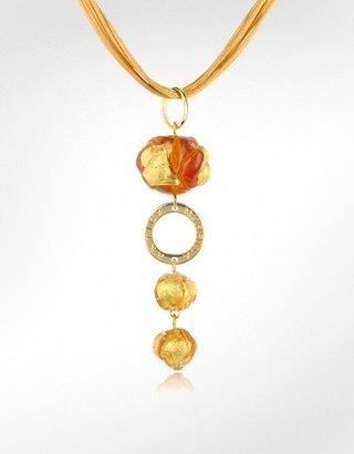 Murano Antica Murrina Pepita Glass Stone Drop Necklace
