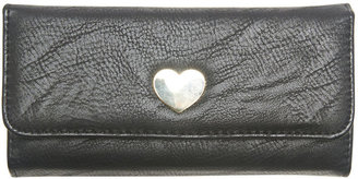 Wet Seal Heart Closure Foldover Wallet