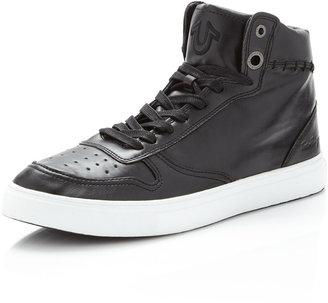 True Religion Swish Hi-Top Sneaker, Black