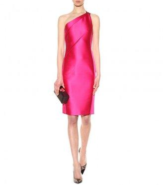 Roland Mouret Aralia one-shouldered satin dress