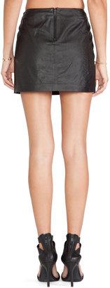 Alice + Olivia Neville Leather Mini Skirt