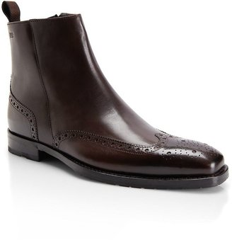 HUGO BOSS Calf Leather 'Clasor' Chelsea Wingtip Boot by BOSS