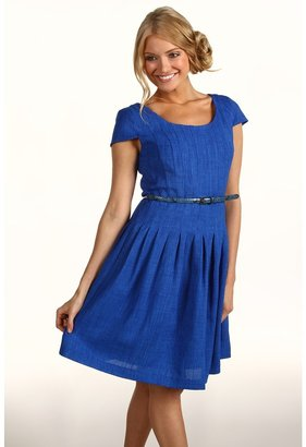 Ellen Tracy Kenya Fit Flare Dress (Cobalt) - Apparel