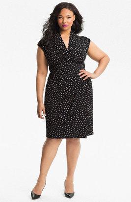 Suzi Chin for Maggy Boutique Print Faux Wrap Dress (Plus)