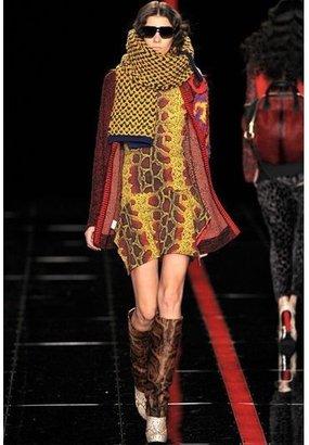 Just Cavalli Python Print Stretch Jersey Dress