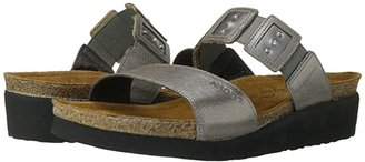 Naot Footwear Emma (Silver Threads Leather/Mirror Leather/Silver Threads Leather) Women's Sandals