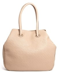 French Connection Bag with Weave Detail - Beige