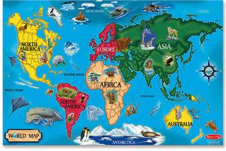 Melissa & Doug Kids Toy, World Map 33-Piece Floor Puzzle