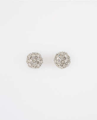 Ann Taylor Pave Cabochon Earrings
